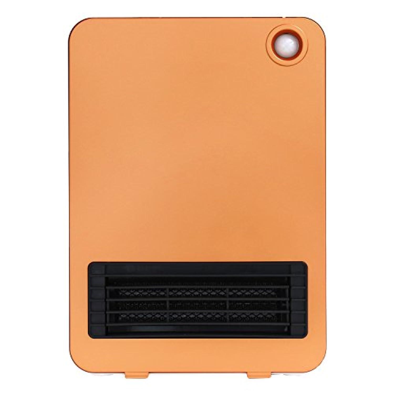 セラミックファンヒーター 省エネ 暖房器具 小型 電気 コンパクト 【SOLEIL】 (オレンジ)