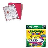 kitcyo588173pac103637–Valueキット–Crayolaポスターマーカー( cyo588173) and Paconリバーサイド建設紙( pac103637)
