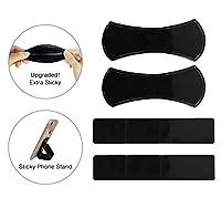 Pure & Merit 粘着ジェルパッド [ラウンド5個] 多目的 再利用可能 滑り止めパッド コインサングラスを保持 GPS 携帯電話スタンド レシピホルダー 滑り止めマット ラグ ペットボウル Foldable and Strips ブラック