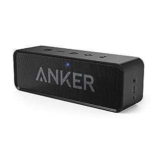 Anker SoundCore (ポータブル Bluetooth4.2 スピーカー )【デュアルドライバー/ワイヤレススピーカー/マイク内蔵 / 24時間連続再生可能】(ブラック)