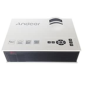 Andoer ベストセラー UC40 800ルーメン 1080P フルHD LED プロジェクター 液晶プロジェクター コントラスト:800:1 リモコン付き 【並行輸入品】