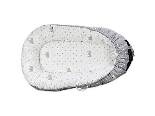 DWSIOOW 添い寝ベッド ベッドインベッド お出かけ おむつ換え コンパクトベット ベビーベッド ベッドガード フェンス 持ち運びに便利 調節可能 洗濯可 選べる5色 (クラウン)
