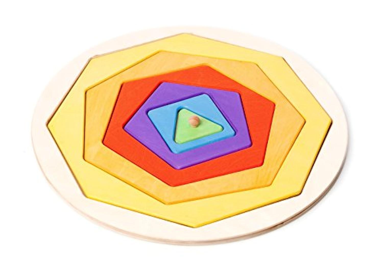 手作り木製ポリゴンパズル – モンテッソーリToy (ハンドメイドのヨーロッパ)