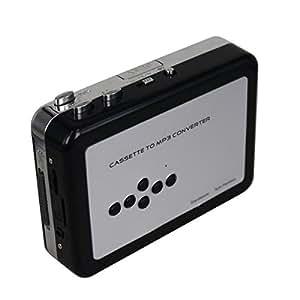 PC不要!カセットテープ USB変換プレーヤー カセットテープデジタル化 MP3コンバーター カセットテープのプレーヤーとしても使えます。MP3の曲を自動分割!microSD保存!オートリバース機能!