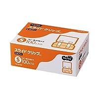 生活日用品 文具・オフィス用品 (まとめ買い) スライドクリップ S シルバー 1箱(100個) 【×2セット】