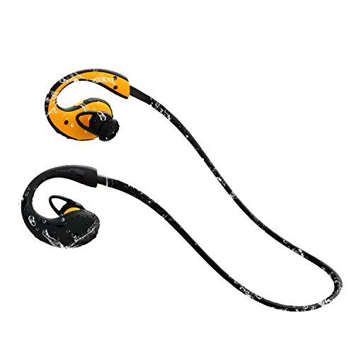 『LEVIN Bluetooth4.1 イヤホン 防水&防汗(IP66防水等級) 高音質 スポーツ仕様 ワイヤレスヘッドフォン (オレンジ&ブラック)』の7枚目の画像