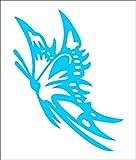 ノーブランド 青 カッティングステッカー 蝶 チョウチョ Butterfly 綺麗 可愛い シール