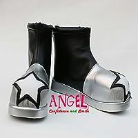 【サイズ選択可】女性23CM B1B00943 コスプレ靴 ブーツ ソウルイーター SOUL EATER ブラック☆スター BlackStar