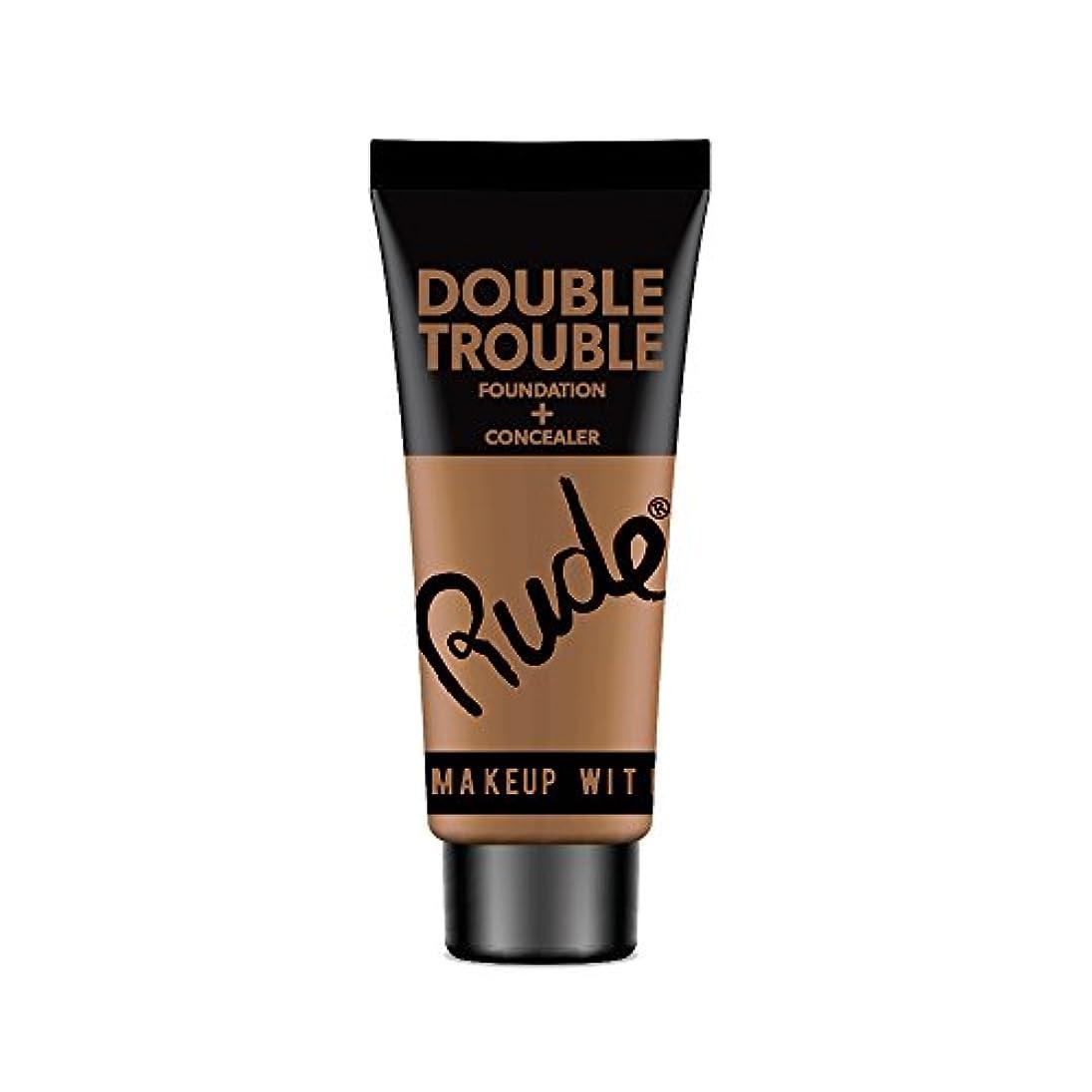 お肉レーニン主義不測の事態(3 Pack) RUDE Double Trouble Foundation + Concealer - Espresso (並行輸入品)