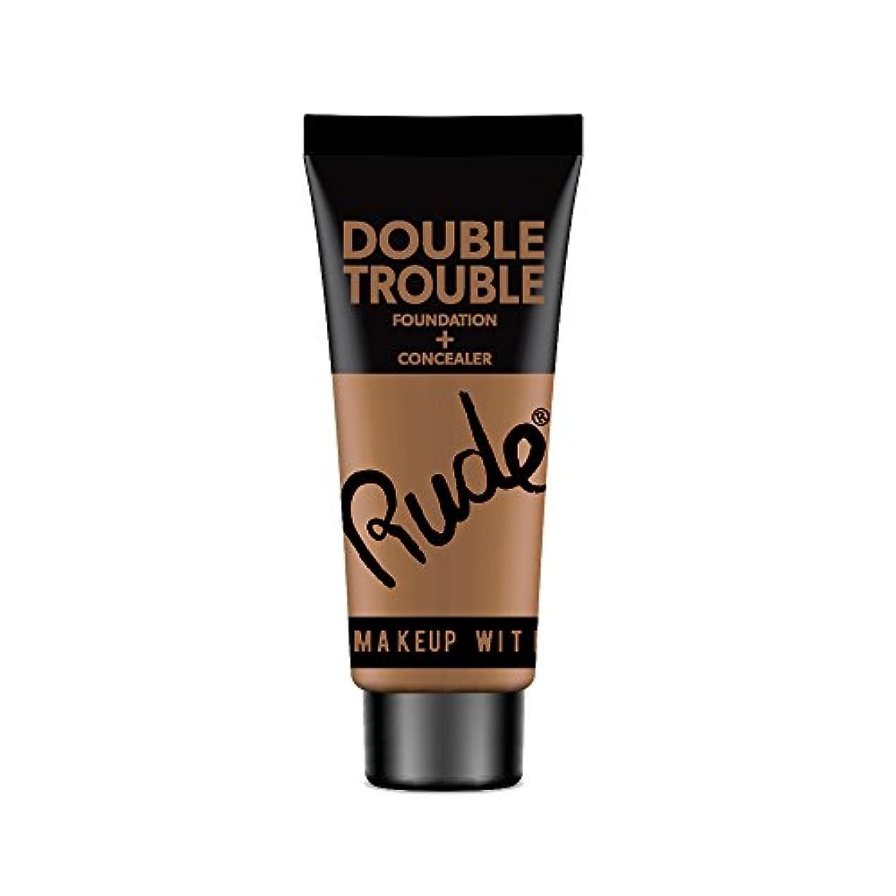 (3 Pack) RUDE Double Trouble Foundation + Concealer - Espresso (並行輸入品)