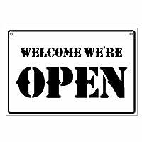 【オープンクローズ両面パネル看板・Lサイズ:幅約45×高約30cm・ナパーム OPEN CLOSED】米軍などミリタリー調の書体でデザインしたサインパネル。