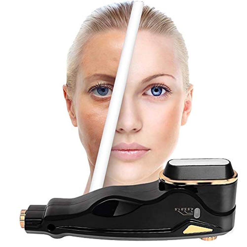 マウントクッション第四しわの除去&顔の肌を振動させて抗しわ肌高周波顔面マシンを締めるためのフェイスマッサージャー最高のスキンケアスパHIFUダイヤモンドマイクロダーマブレーション