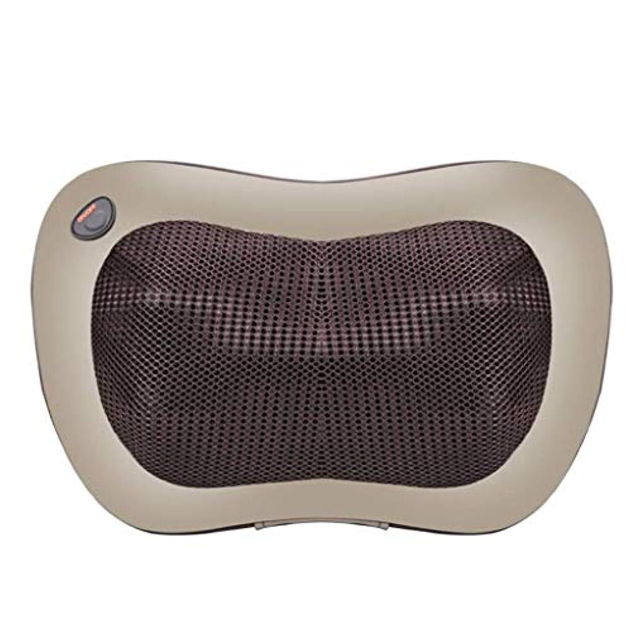 セマフォジャベスウィルソン理解電動マッサージ枕、指圧マッサージ首マッサージ-マッサージ枕、ホットショルダー、ウエスト、脚、足を混練-ホームオフィスや車で使用して筋肉痛を和らげます