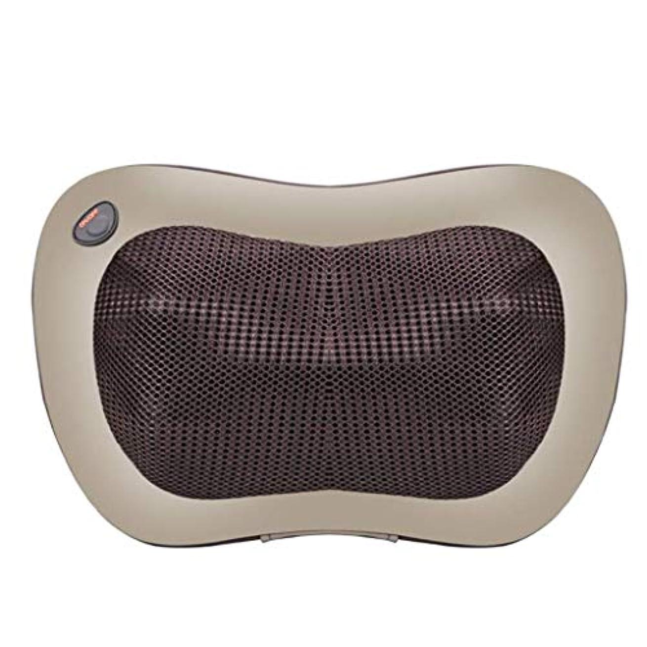自然反逆高さ電動マッサージ枕、指圧マッサージ首マッサージ-マッサージ枕、ホットショルダー、ウエスト、脚、足を混練-ホームオフィスや車で使用して筋肉痛を和らげます
