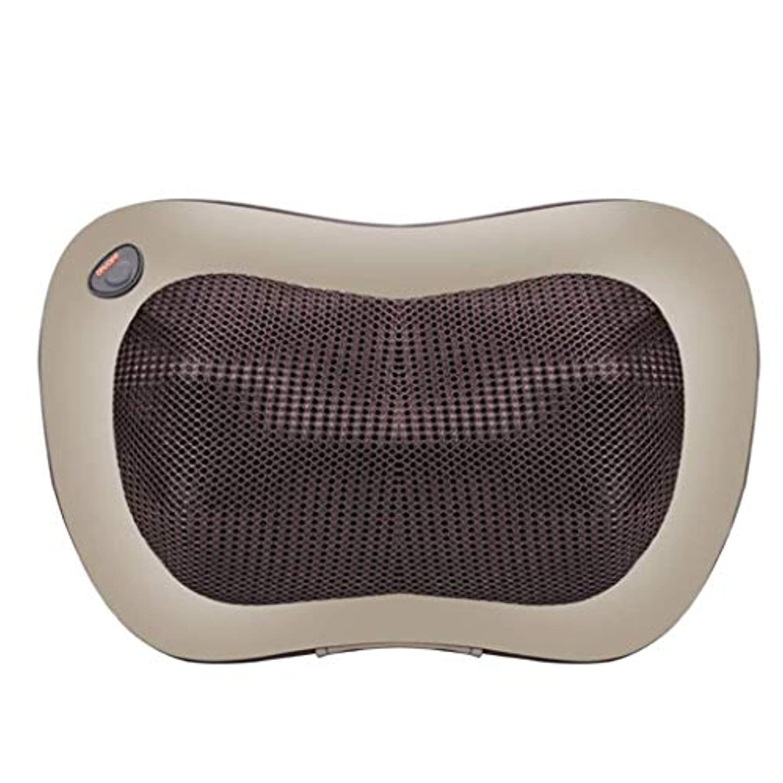割れ目市民統治可能電動マッサージ枕、指圧マッサージ首マッサージ-マッサージ枕、ホットショルダー、ウエスト、脚、足を混練-ホームオフィスや車で使用して筋肉痛を和らげます