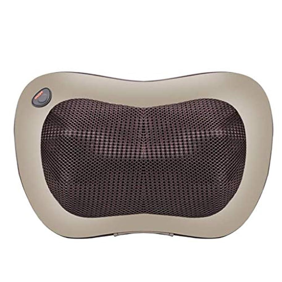 ノイズキウイ本体電動マッサージ枕、指圧マッサージ首マッサージ-マッサージ枕、ホットショルダー、ウエスト、脚、足を混練-ホームオフィスや車で使用して筋肉痛を和らげます