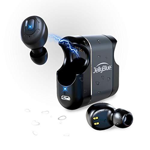 Bluetooth イヤホン 超軽量 高音質 手軽に持ち運べます IPX5防水 JellyBlue LT39 完全ワイヤレス イヤホン Siri/Googleアシスタント対応 自動ON/OFF 両耳通話 左右分離型 AAC対応 2台同時接続