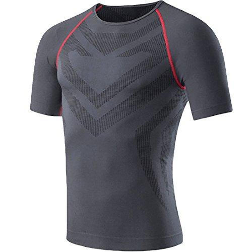 HONENNA アンダーシャツ スポーツインナー 半袖 男性用機能性肌着 スポーツウェア インナー メンズ Tシャツ 姿勢矯正