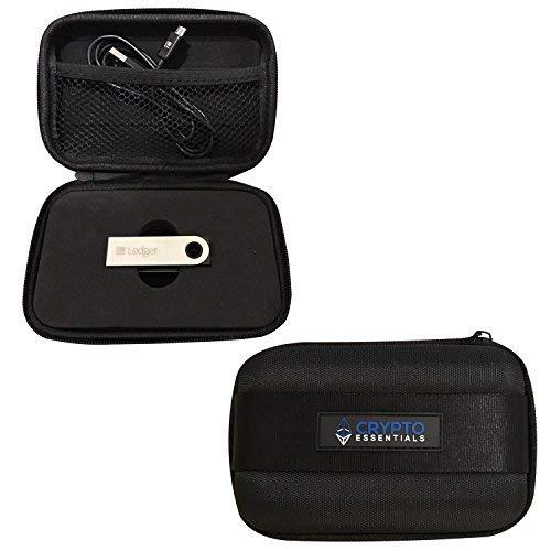 クリプトEssentials Bitcoin - S 2元帳Nanoの財布型ケース:頑丈な、コンパクトファスナー付きケースCryptocurrencyハードウェアWallets、USBケーブル accessories|衝撃吸収デザインfor元帳Nano S安全