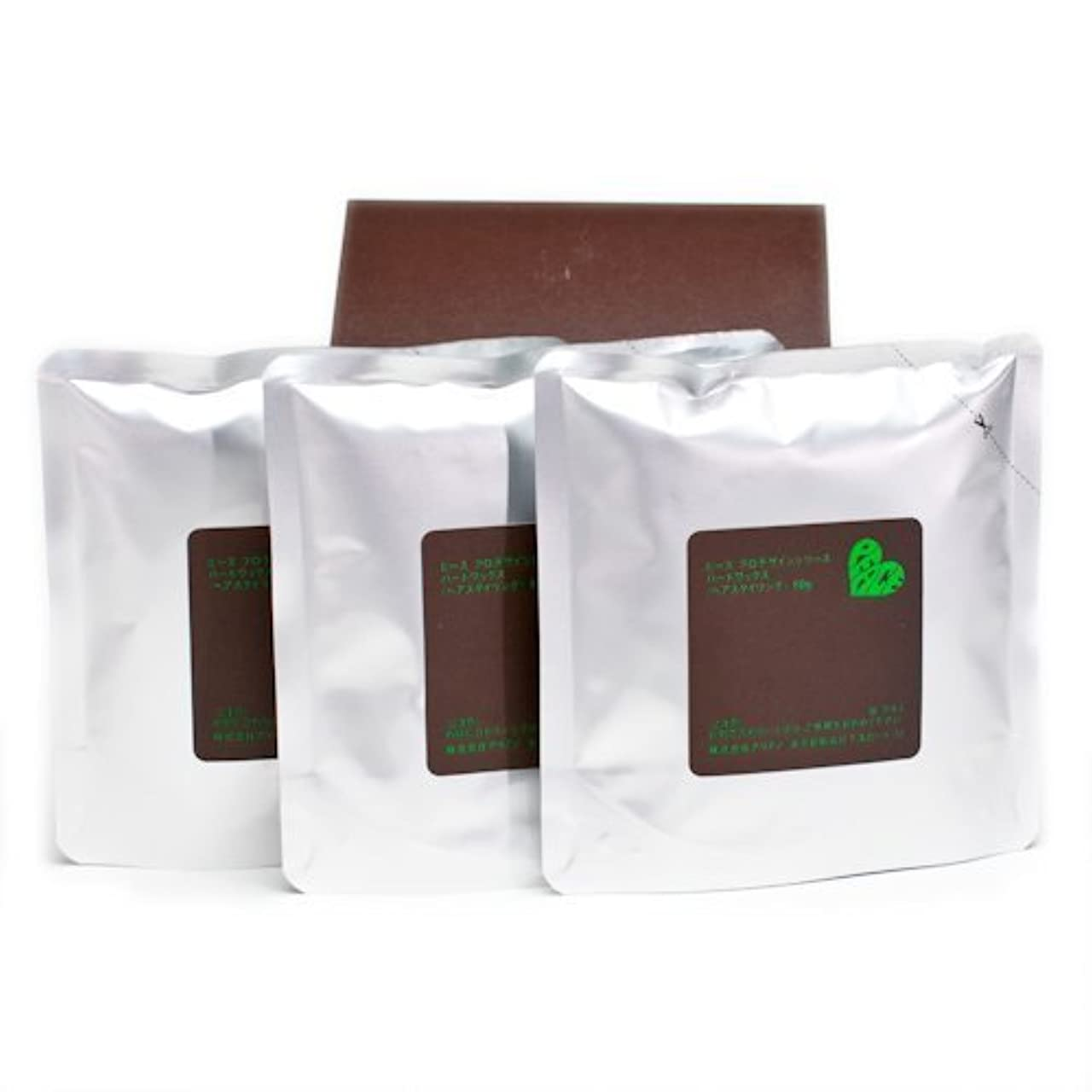 葉巻結び目鉛アリミノ ピース ハードワックス (チョコ) 80g(業務?詰替用)×3個入り