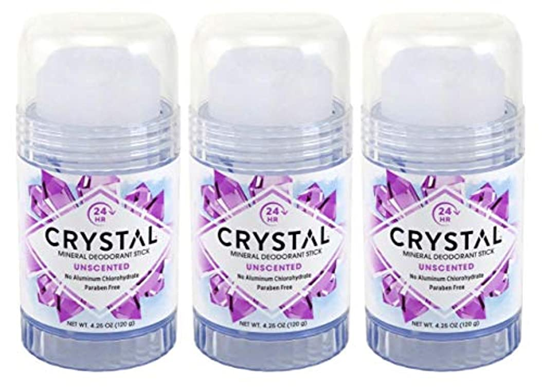 アデレードハム早くCRYSTAL Deodorant スティック4.25Oz(3パック)