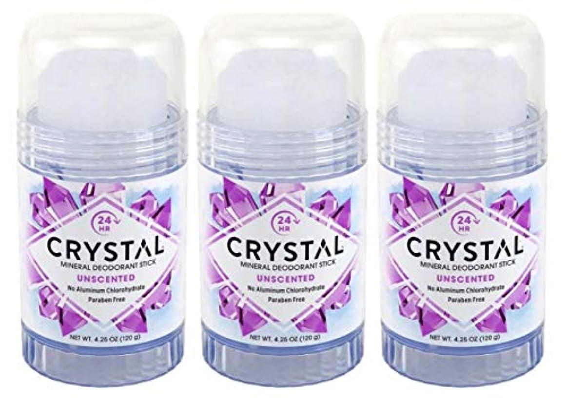 歪める敬礼当社CRYSTAL Deodorant スティック4.25Oz(3パック)