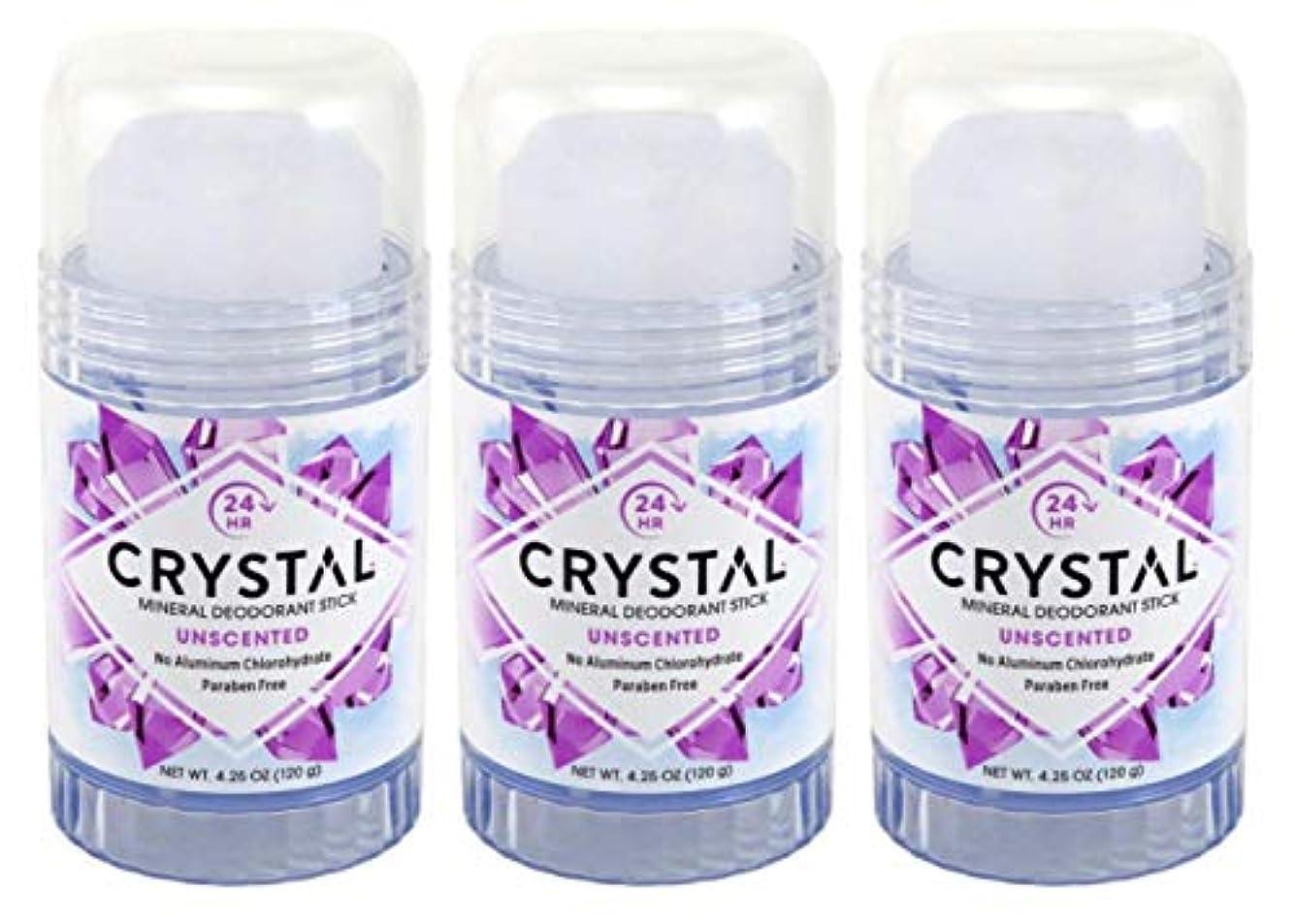 キーうぬぼれた書き込みCRYSTAL Deodorant スティック4.25Oz(3パック)