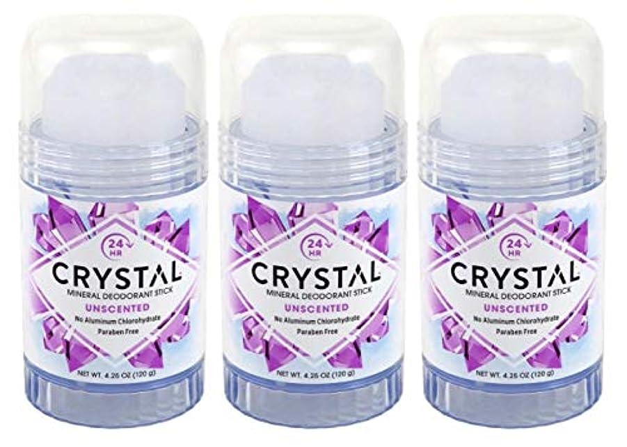 休暇まつげ抑止するCRYSTAL Deodorant スティック4.25Oz(3パック)