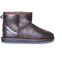 UGG Ankle Boots Mini Classic Premium Australian Sheepskin Womens Mens Shoes Nappa Chocolate
