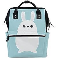 ママバッグ マザーズバッグ リュックサック ハンドバッグ 旅行用 白いウサギ柄 かわいい ファション