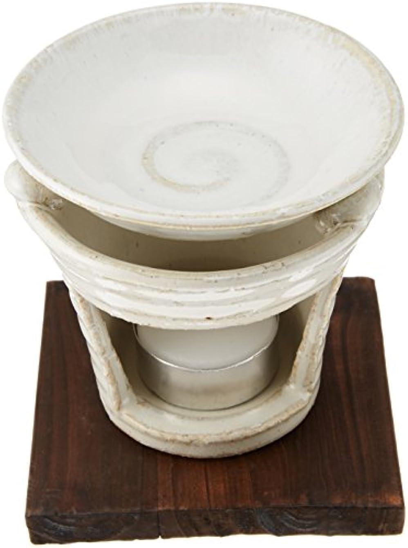 対処シャープ充電香炉 茶香炉 白萩 [H10cm] プレゼント ギフト 和食器 かわいい インテリア