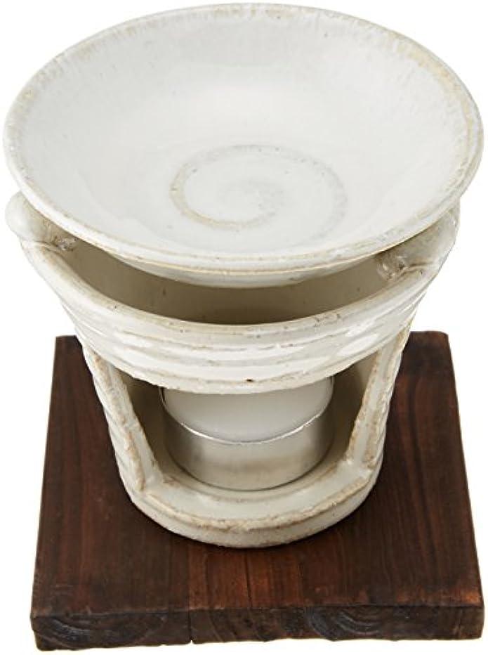 でもエンディング運河香炉 茶香炉 白萩 [H10cm] プレゼント ギフト 和食器 かわいい インテリア