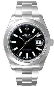 (ロレックス) ROLEX 腕時計 デイトジャスト�U 116300 ブラック バー メンズ [並行輸入品]