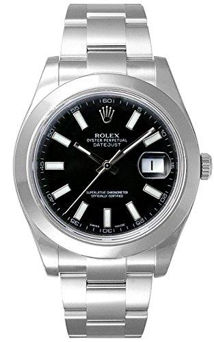 (ロレックス) ROLEX 腕時計 デイトジャストⅡ 116300 ブラック バー メンズ [並行輸入品]