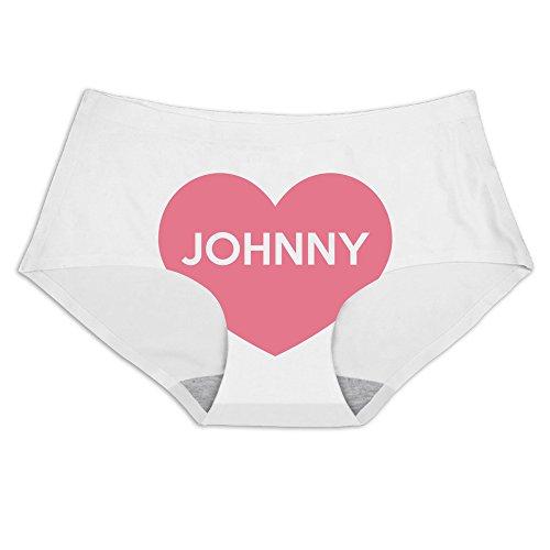 スリムショーツLove Johnny印刷アイスシルクブリーフアンダーウェア...