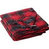 Goalftek 12V Electric Heated Car Truck Fleece Blanket Winter Warm Travel Cover Heater