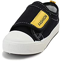 Exgingle Kids Boys Girls Canvas Shoes Slip-on Hook and Loops Sneakers Toddler Little/Big Kid
