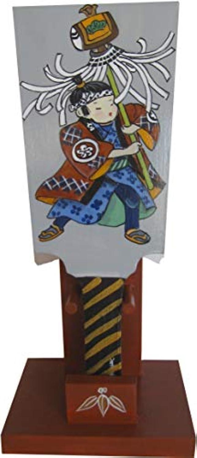 大理石粘性の合意トールペイント ご自分で描く図案付白木素材 cwk-211 羽子板ミニ 火消 わらべ(台?羽子板セット)