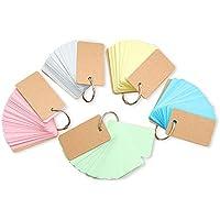 単語カード 単語帳 英語 学習 中 学生 高校生 大 学生 かわいい リング 綴じ 受験 試験 挨拶カード 5色セット