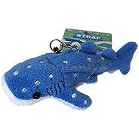 オレンジ サメ ぬいぐるみ 携帯ストラップ ジンベエザメ 鮫 8.5cm 2014113