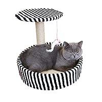 JIANXIN スクラッチポスト、キャットツリー、キャットスクラッチポスト、小型キャットクライミングフレーム、猫のおもちゃ付き40 * 40 * 34 cm(5色) (色 : E)