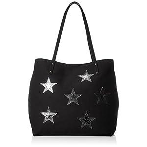 [コルデ] 星パッチビッグトートバッグ F81-010 05 BLACK