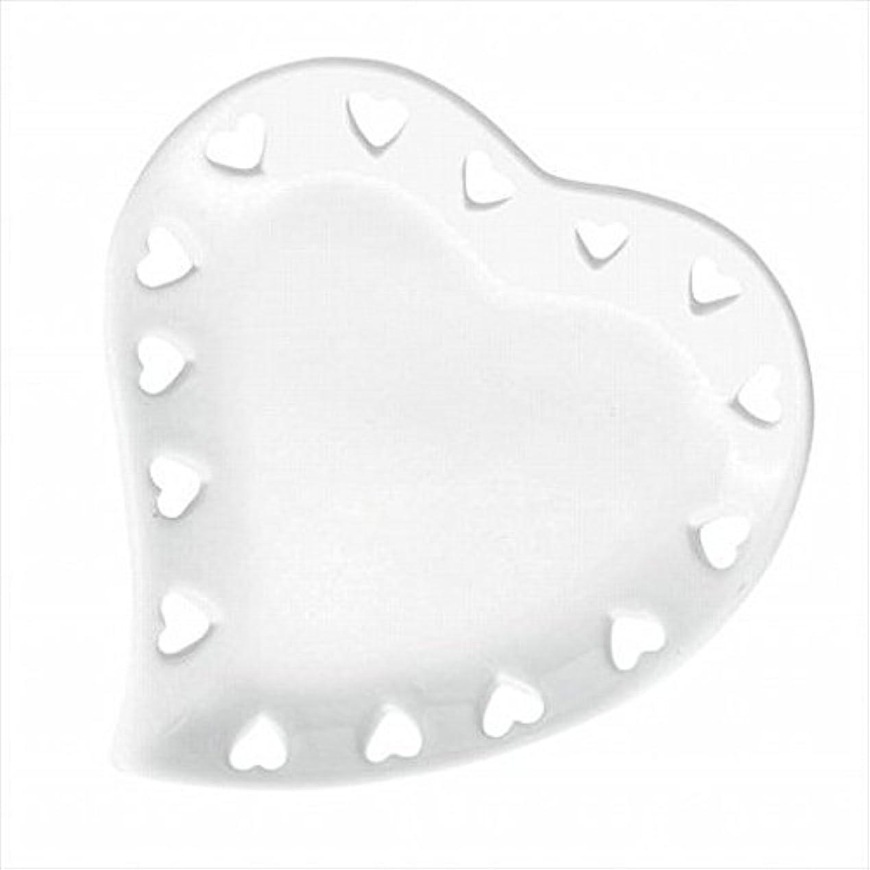とてもに慣れ浴室kameyama candle(カメヤマキャンドル) ハートプレートS 「 ホワイト 」 キャンドル 122x127x17mm (J1310000W)