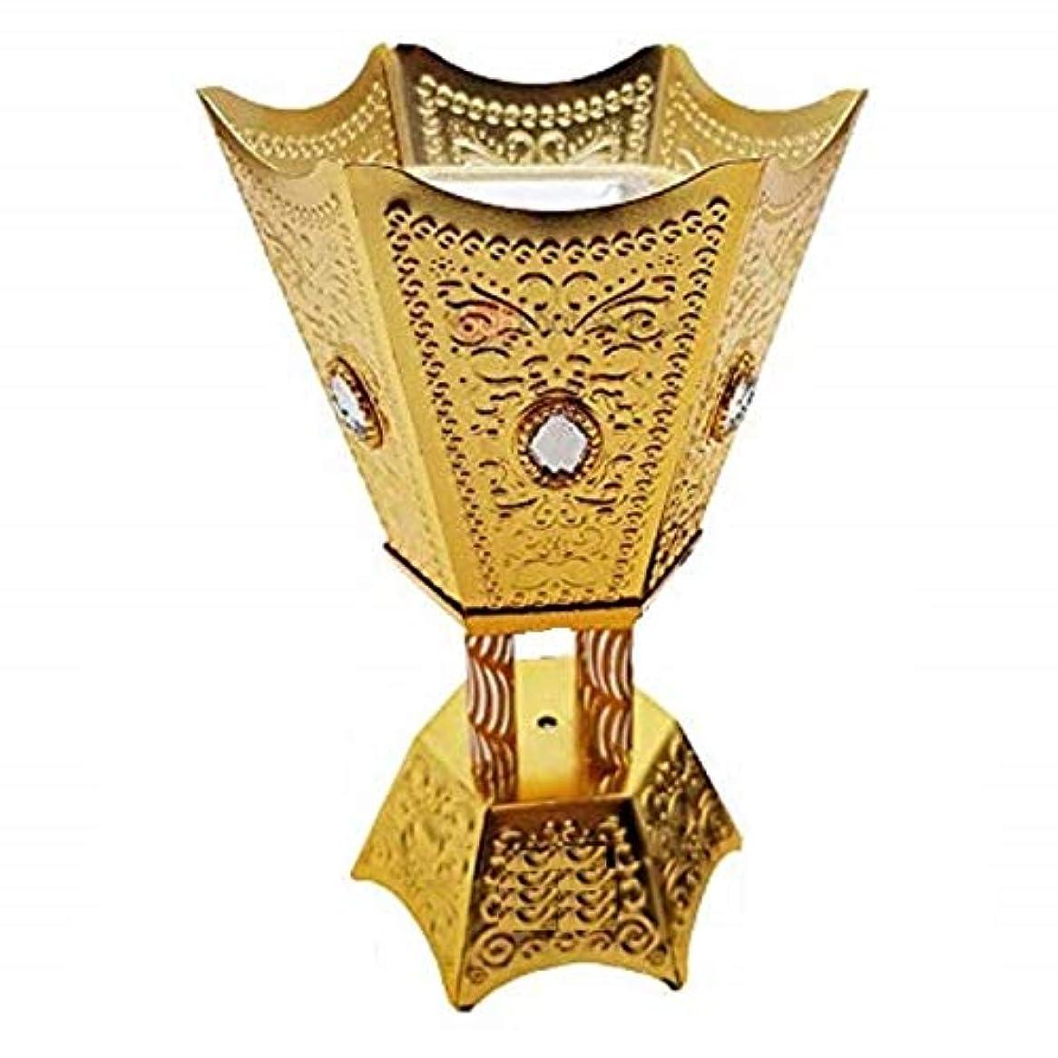 反乱細部変換するOMG-Deal Incense Burner Charcoal Bakhoor Frankincense Resin – Luxury Hand Painted Burner - WF -001 Golden