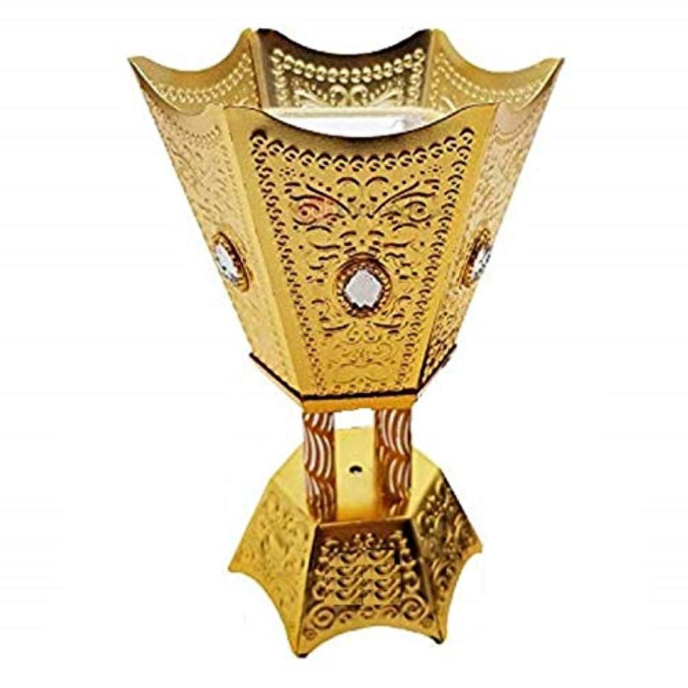 時期尚早先入観シェルターOMG-Deal Incense Burner Charcoal Bakhoor Frankincense Resin – Luxury Hand Painted Burner - WF -001 Golden