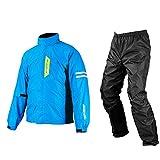 コミネ(Komine) バイク用レインスーツ ブレスターレインウェア-フィアート シアンブルー L 03-539 RK-539