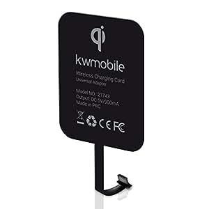 kwmobile ユニバーサルQi充電器 マイクロUSB接続付きスマホ用