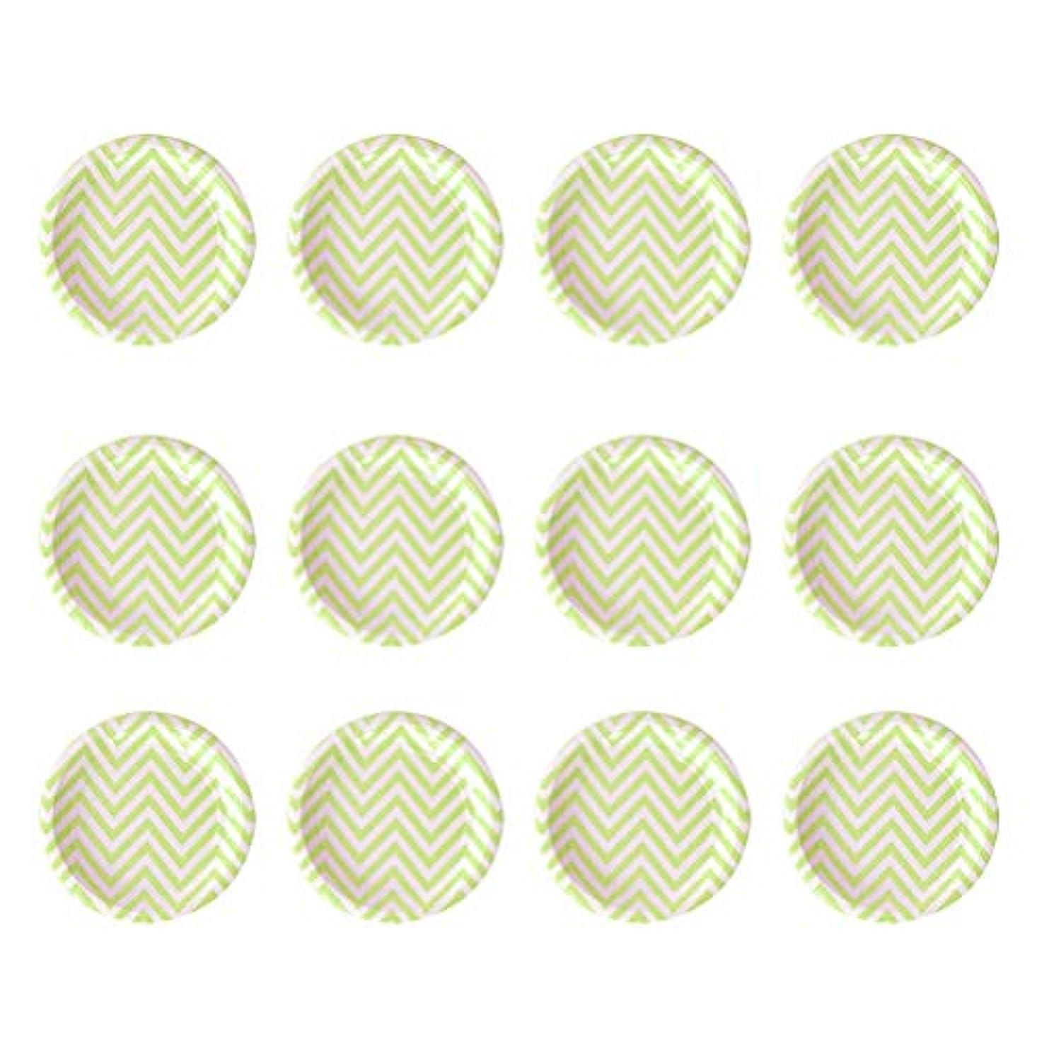 エチケット悲惨すすり泣きBESTOYARD 12本の使い捨て紙プレート誕生日パーティー用品のラウンドディナーデザートケーキプレート(ライトグリーン)