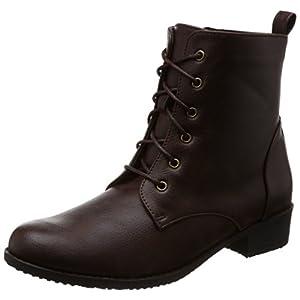 [リリオブランコ] ブーツ レースアップショートブーツ 2783004 ダークブラウン(本革風スムース) 24.0~24.5 cm