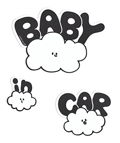 No BoRDER(ノーボーダー) BABY IN CAR ステッカー オリジナルドライブサイン C...